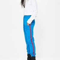 Missguided - Blue Binding Jersey Joggers