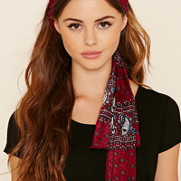 Self-Tie Paisley Headwrap
