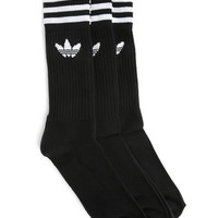 3 pairs of Black Crew Socks ADIDAS men Socks Black men