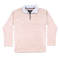 Softest Tip Shearling 1/4 Zip Pullover in Shearling by True Grit