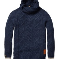 Naps Yarn Pull With Twisted Shawl Collar - Scotch & Soda