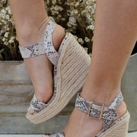 Anaconda Espadrille Wedge Sandals