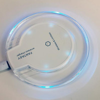 Smart Magic Disk Qi Wireless Charger Wireless Charging Pad Transmitter With Blue Light For Samsung Galaxy S6 Edge Phone Apple Watch Free DHL