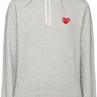 Grey Heart Patch Hoodie