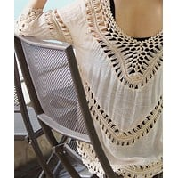 fhotwinter19 hot sale sexy loose crochet hollow blouse