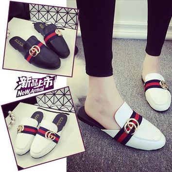 Flat Loafer Shoes Summer Vans Shoes England Style Casual Slippers [11302552148]
