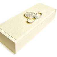 Bracelet and Ring Box  Sculpted Leather Design / Mothers Day/ Graduation/ Keepsake Box