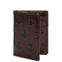 EMBOSSED ANCHOR VERTICAL CARD HOLDER