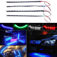 1pcs 10pcs Waterproof 15 LED 30cm Car Styling super waterproof flexible Car Light Daytime Running Lights DRL Soft Strips