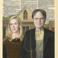 Dwight and Angela The Office Dictionary Art Print