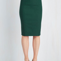 50s Mid-length Pencil I'll Have the Usual Skirt in Pine