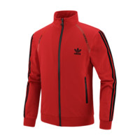 ADIDAS Clover autumn new men's fashion sports casual jacket jacket baseball uniform Red