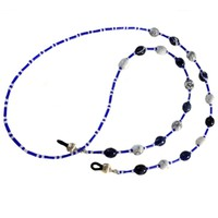 Blue and White Glasses Lanyard