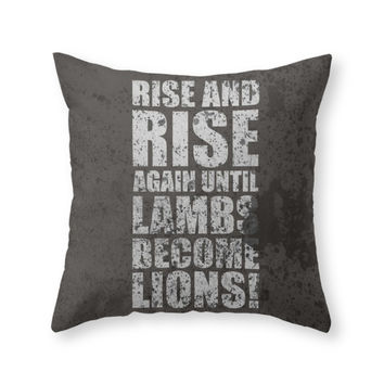 Society6 Lab No 4 Rise An Throw Pillow