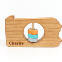 Pennsylvania State Wooden Baby Rattle™