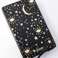 Cosmic Black Star Print Pick Me Up Portable Charger