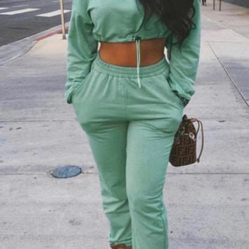 Fashion long-sleeved shirt trousers two-piece suit casual suit female autumn