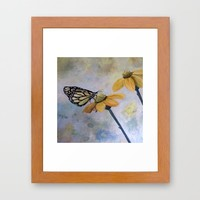 Flutter Butterfly Framed Art Print by RokinRonda | Society6