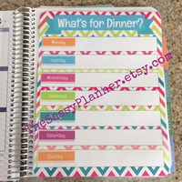 FREE SHIPPING Meal Planning & Grocery List Laminated Dashboard Insert for Erin Condren Life Planner clips right into coils!