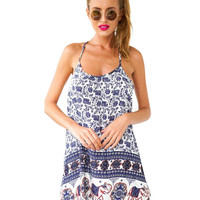Spaghetti Strap Printed Mini Dress