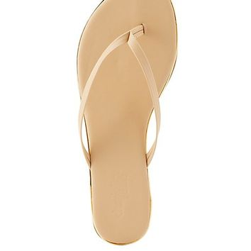 Metal-Tipped Thong Sandals
