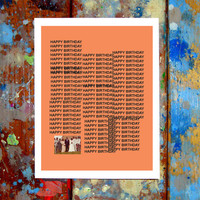Kanye West TLOP Happy Birthday Card The Life Of Pablo