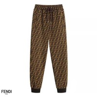 Fendi full printed double F subtitle print casual pants