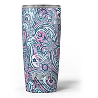 Seamless Mint and Pink Sprout - Skin Decal Vinyl Wrap Kit compatible with the Yeti Rambler Cooler Tumbler Cups