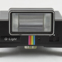 Polaroid Q-Light Black Rainbow Stripe Electronic AA Battery Powered Flash Unit for Polaroid SX-70 OneStep & Pronto Instant Film Cameras