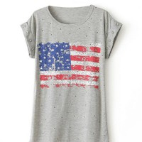 American Flag Star Studed T-shirts