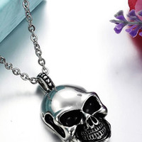 Trend Skeleton Barrel Clasp Stainless Steel Necklace
