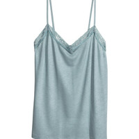 Lace-trimmed Tank Top - from H&M