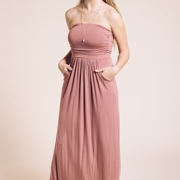 Dusty Rose Maxi Dress