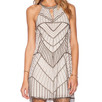 Parker Sansa Embellished Dress in Blush