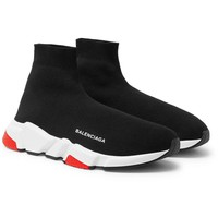 Balenciaga Speed Sock Mid Men's Trainers Black/White/Red