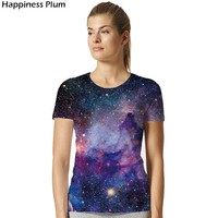 Tops and Tees T-Shirt Galaxy Shirt Space Universe 3d Print  Women Hort Sleeves Womens Brand Clothing Hip Hop top Tees Summer Cool Hiphop Clothes AT_60_4 AT_60_4