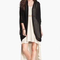 Painted Threads Oversized Sheer Knit Cardigan (Juniors) | Nordstrom