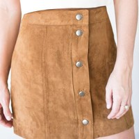 Season's Splendor Suede Like Skirt