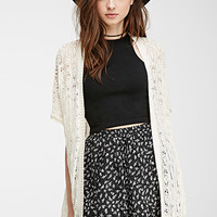 Open-Front Pointelle Cardigan