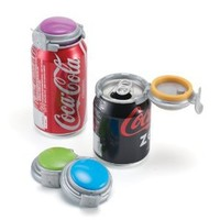 Jokari Deluxe Fizz-Keeper Can Pump & Pour, (Pack of 4) assorted colors