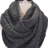 Oversize Sweater Scarf, Gray :: NEW ARRIVALS :: The Blue Door Boutique