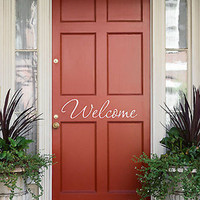 Welcome Wall Decal- by Decor Designs Decals, welcome, decal, welcome decal, welcome wall decal, wall decals, welcome home, welcome decals, welcome sign, sticker H33