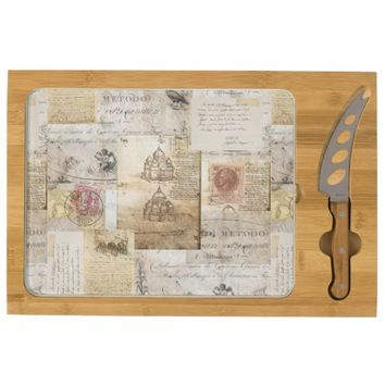 Vintage Italian Rome Cathedral Cheese Board