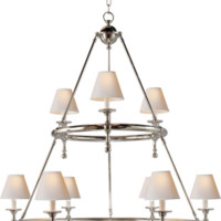 Classic Two-Tier Ring Chandelier - SL5813