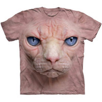 The Mountain HAIRLESS CAT FACE T-Shirt Funny Ugly Sphynx Pussycat S-5XL NEW