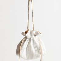 Woven Pleated Drawstring Pouch | Urban Outfitters