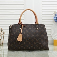 Louis Vuitton LV new trendy large-capacity old pattern travel bag