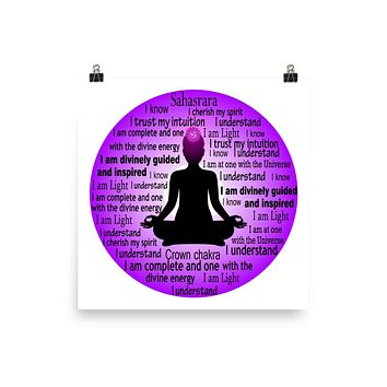 """CROWN CHAKRA"" Premium Luster Photo paper poster"