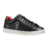 Mickey Mouse Porter Leather Sneakers for Women by COACH - Black