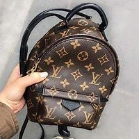 LV Louis Vuitton Fashion Casual Ladies Printed Backpack Bag